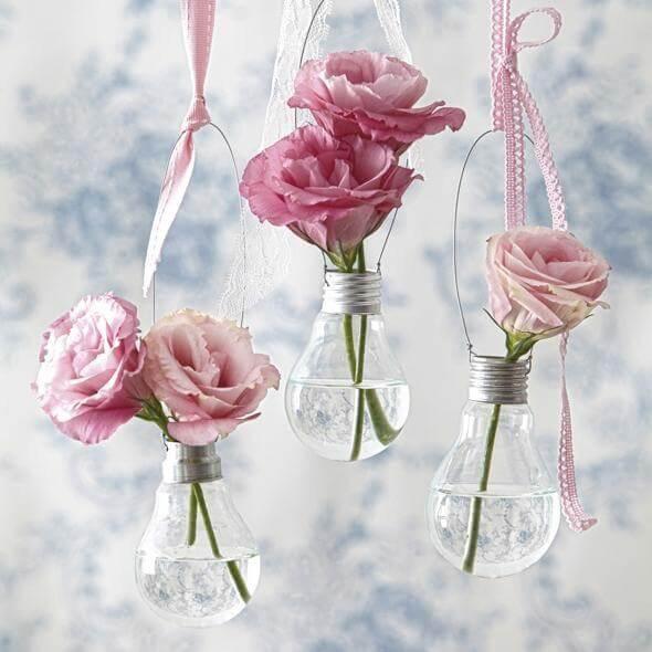 Glühbirne Vase DIY Wohndeko