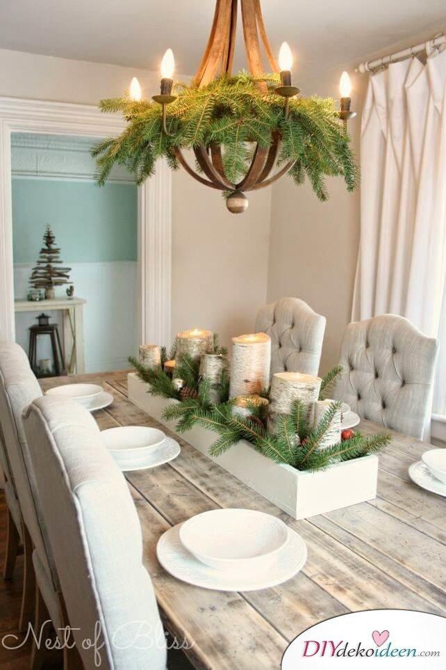 mit diesen diy tischdeko ideen zu weihnachten bezauberst. Black Bedroom Furniture Sets. Home Design Ideas
