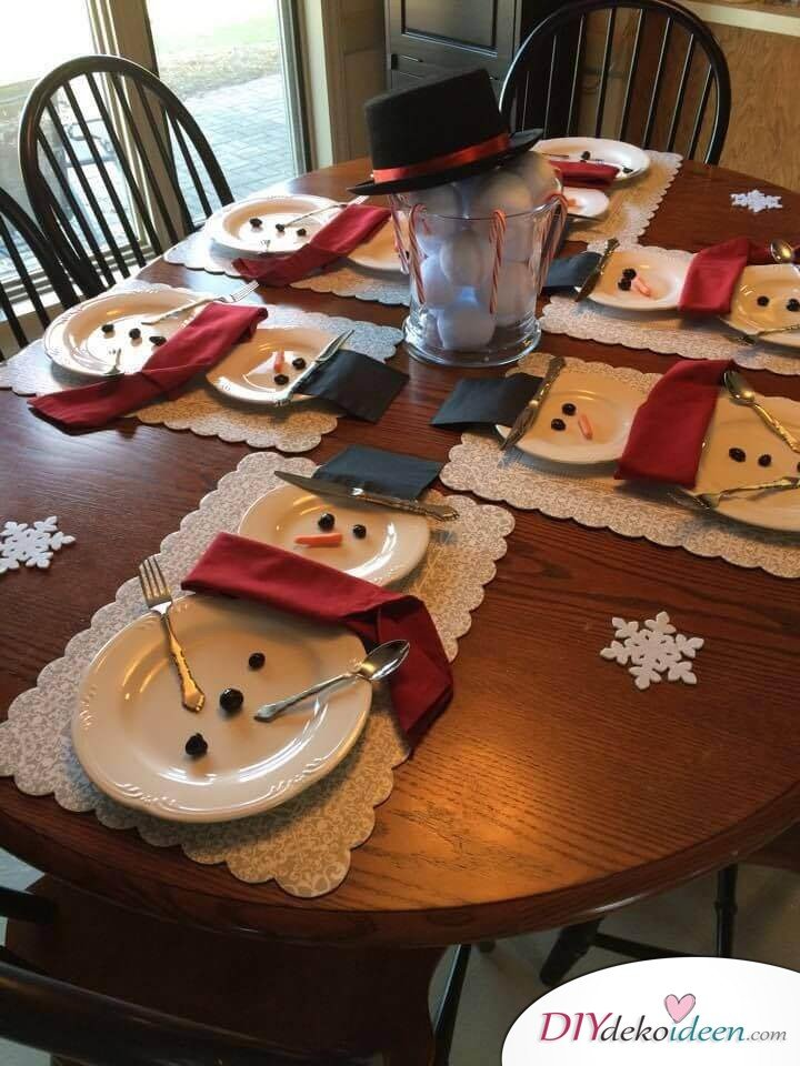 04 Diy Christmas Table Decoration Ideas Homebnc Jpg Diydekoideen