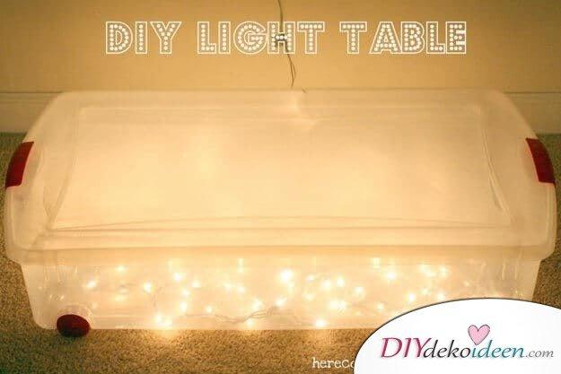 Spiel für Kinder, leuchtender Tisch-Bastelideen für Kinder