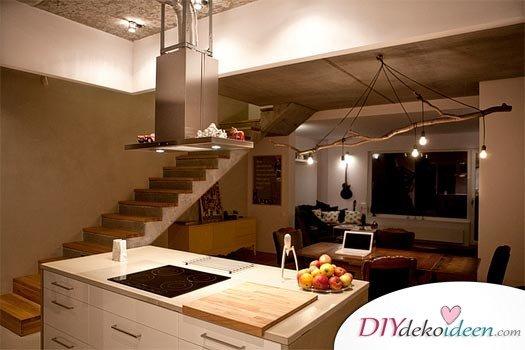DIY Küchenbeleuchtung mit Ästen