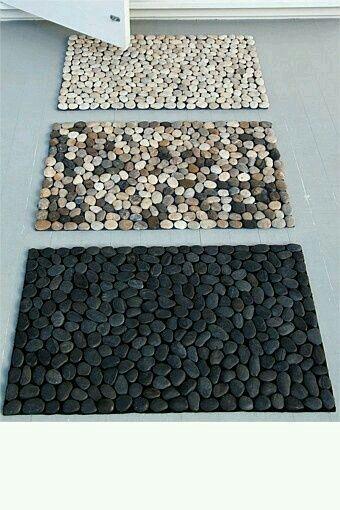 Teppich aus Steinen basteln, Deko Ideen und DIY Wohnaccessoires zum Selbermachen