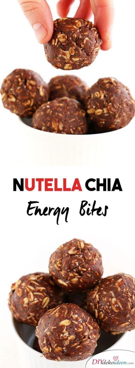DIY Rezepte mit Nutella, Chia-Hafer-Nutella Bällchen,
