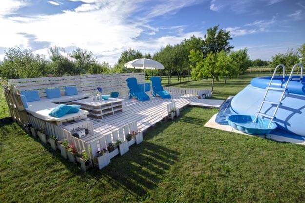 Sommerlounge zum Selbermachen mit Pool