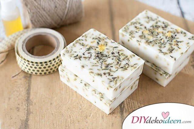 Seife selber machen, Lavendel-Honigseife
