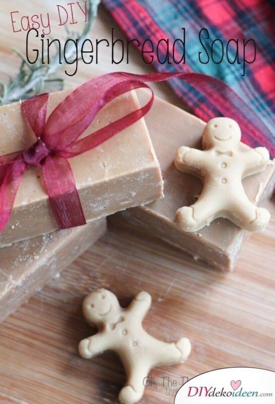 Seife mit Lebkuchenduft, DIY Weihnachtsgeschenk-Idee