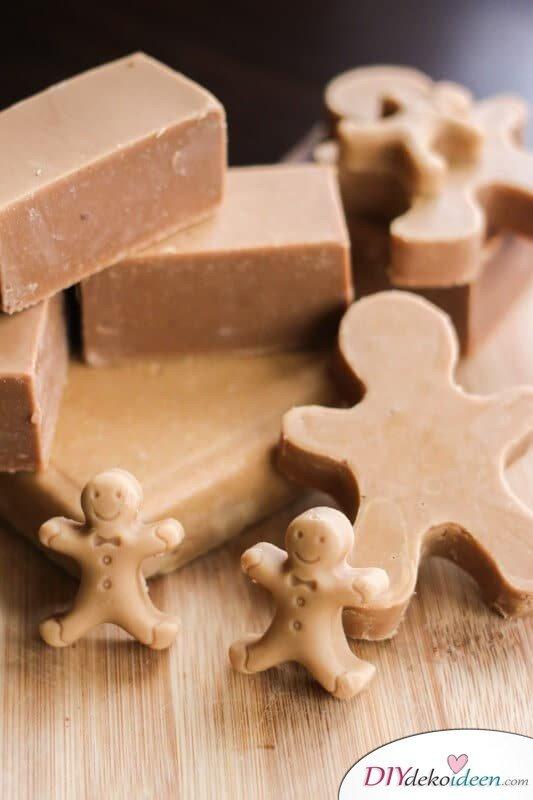 Lebkuchen-Seife selber machen - DIY Last Minute Geschenk