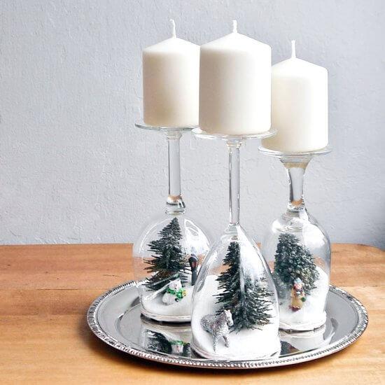 Weihnachtsdeko zum Selbermachen, Kunstschnee-Deko, DIY Weihnachtsdeko Bastelideen