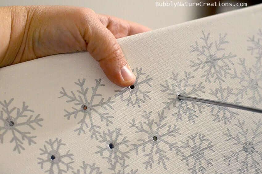 Weihnachtsdeko zum Selbermachen, leuchtendes Leinwandbild, DIY Weihnachtsdeko Bastelideen