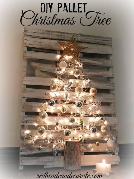 Weihnachtsdeko zum Selbermachen, Weihnachtsbaum selber machen, DIY Weihnachtsdeko Bastelideen