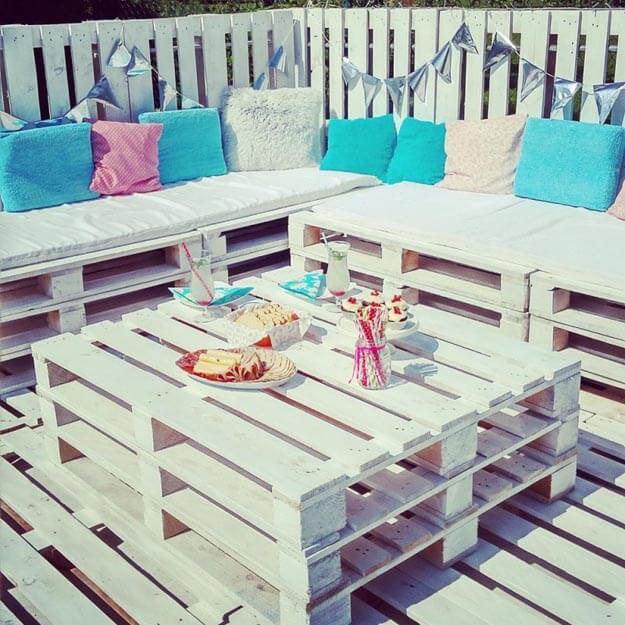 Sommer-Lounge aus Europalette