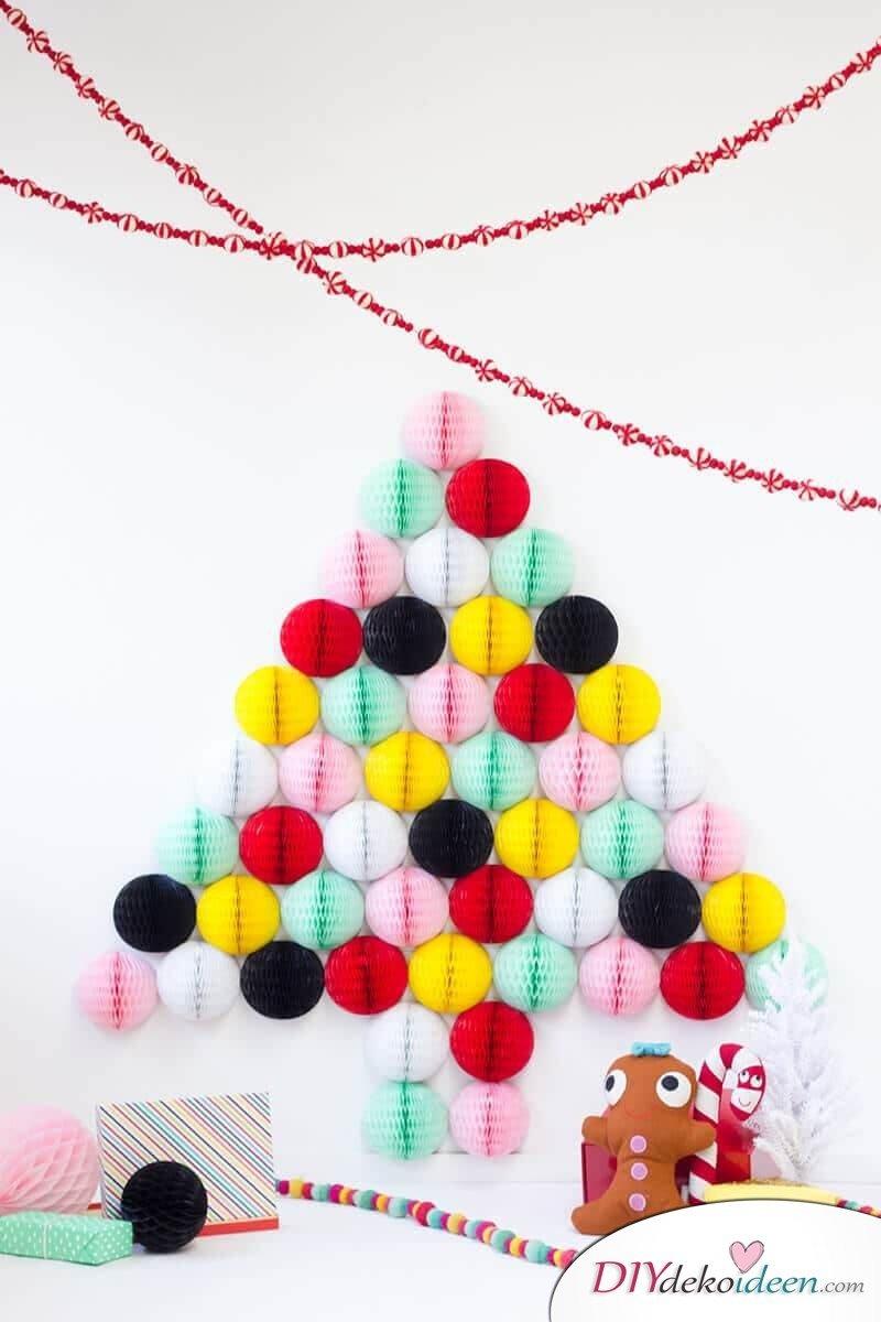 DIY Weihnachtsbaum-Bastelideen, WWabenbälle basteln