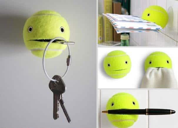 Deko Ideen und DIY Wohnaccessoires zum Selbermachen, Tennisball Aufbewahrung