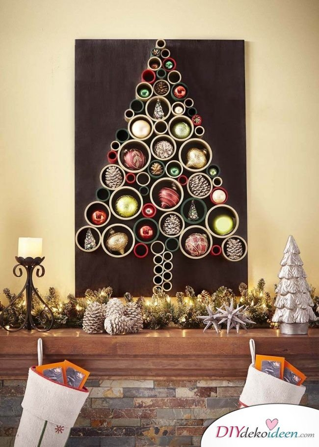 25 ideenreiche diy weihnachtsbaum bastelideen. Black Bedroom Furniture Sets. Home Design Ideas