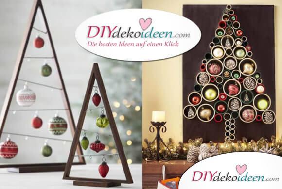 25+ ideenreiche DIY Weihnachtsbaum-Bastelideen