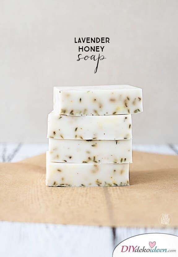 Lavendel-Honigseife, für strahlende Haut und verwöhnendem Duft