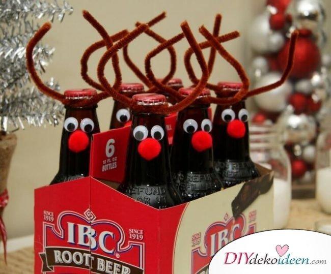 Weihnachtsgeschenke Selber Basteln Bier Dekoration Plueschdraht