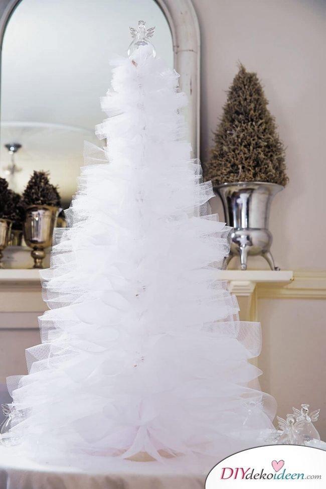 DIY Weihnachtsbaum-Bastelideen, Weihnachtsdeko aus Tüll