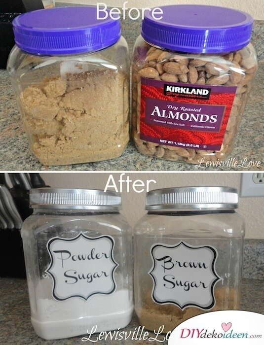 14 Re Purpose Canisters For The Pantry 29 Cool Spray Paint Ideas