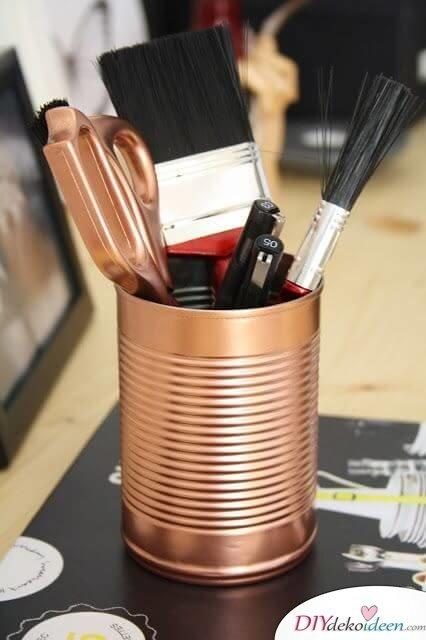 DIY Wohndeko-Ideen mit Spraydosen, Metalldosen besprühen, Topf für Gewürze und Pflanzen, Aufbewahrung