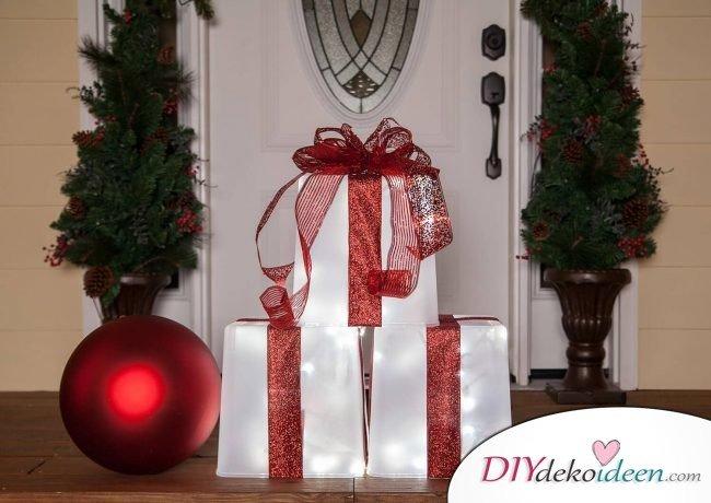 diy deko ideen - zu weihnachten den garten gestalten, Gartenarbeit ideen