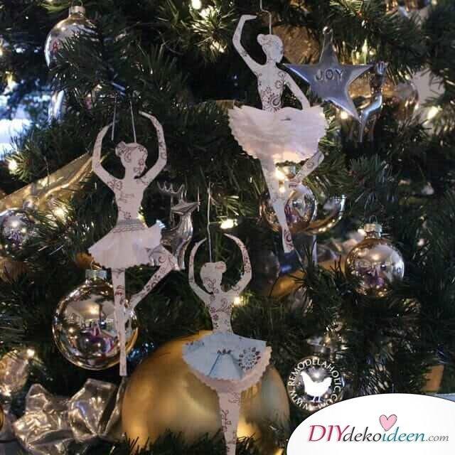 Ballerina-Weihnachtsdeko selber basteln