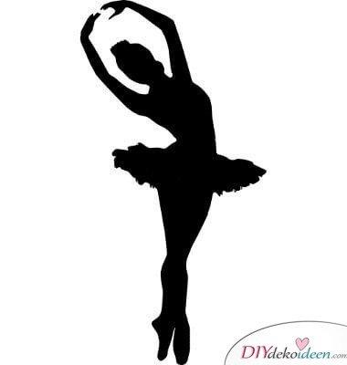 DIY Weihnachtsbaum-Ideen aus Papier, Deko-Ballerina silhouette 1