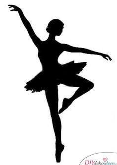 DIY Ideen mit Papier, Weihnachtsdeko-Ballerina Silhouette 2