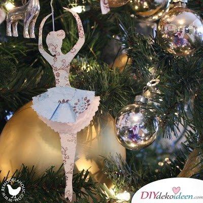Ballerina DIY-Weihnachtsbaum-Deko selber machen