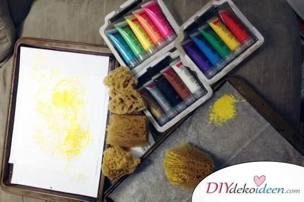 Backpapier und Schwamm-Materialien für das DIY T-shirt