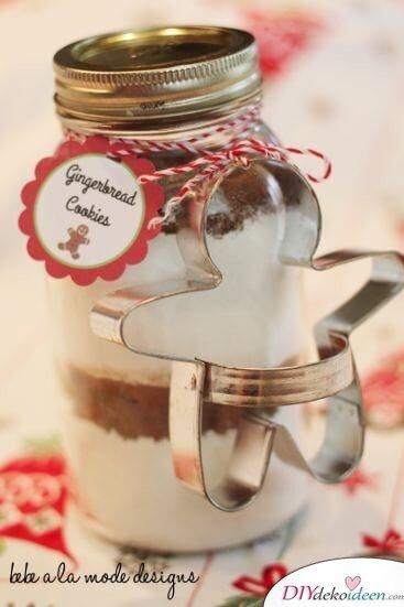 Weckgläser DIY für Weihnachtsgeschenkideen-Lebkuchenmischung verschenken