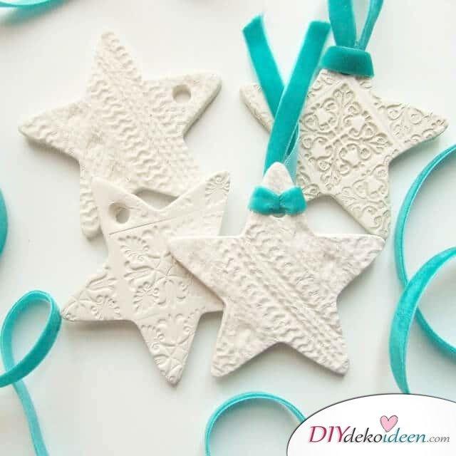 DIY Bastelideen für Weihnachtsbasteln mit Kindern, Geschenke selber machen, Salzteig basteln, Salzteig Rezept, Weihnachtsbaumschmuck