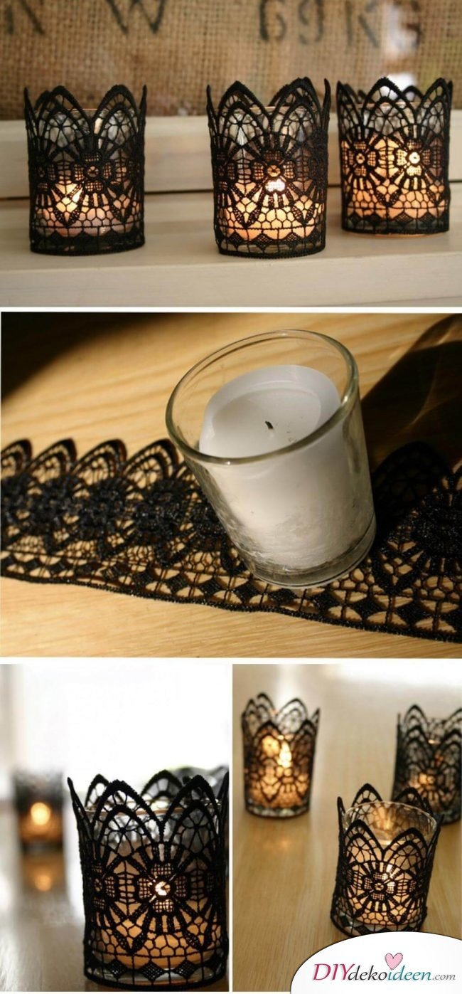 Mit diesen 25 ideen kannst du stilvolle deko kerzenhalter selber ...