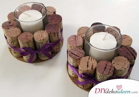 Deko Kerzenhalter Selber Machen Für Weinkenner