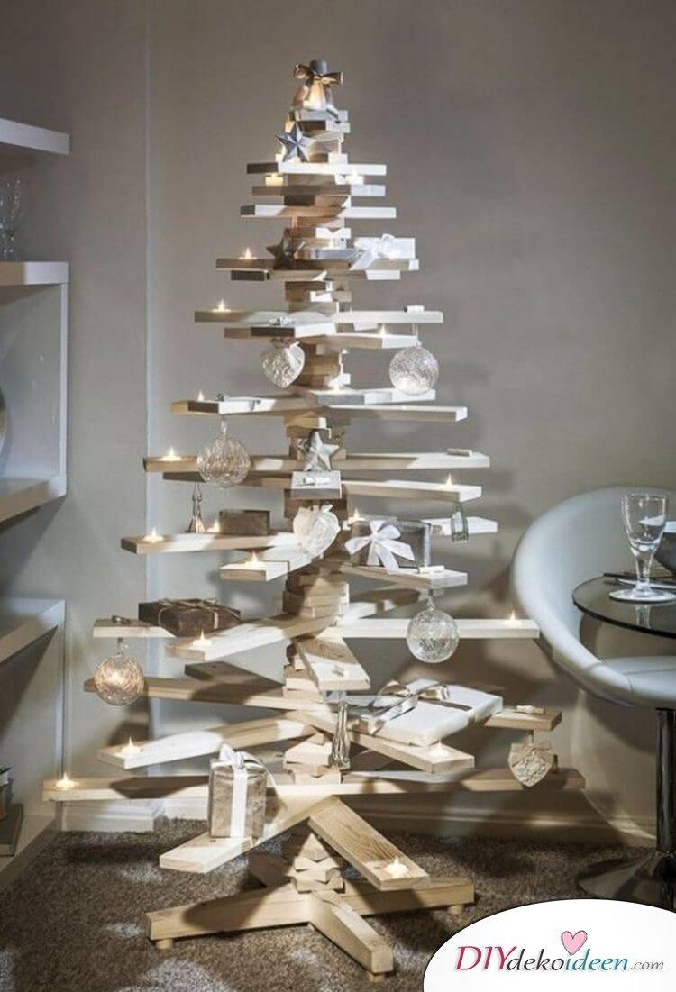 Skandinavische Weihnachtsdeko Selber Machen Holz Ideen  Christbaum Holzbretter