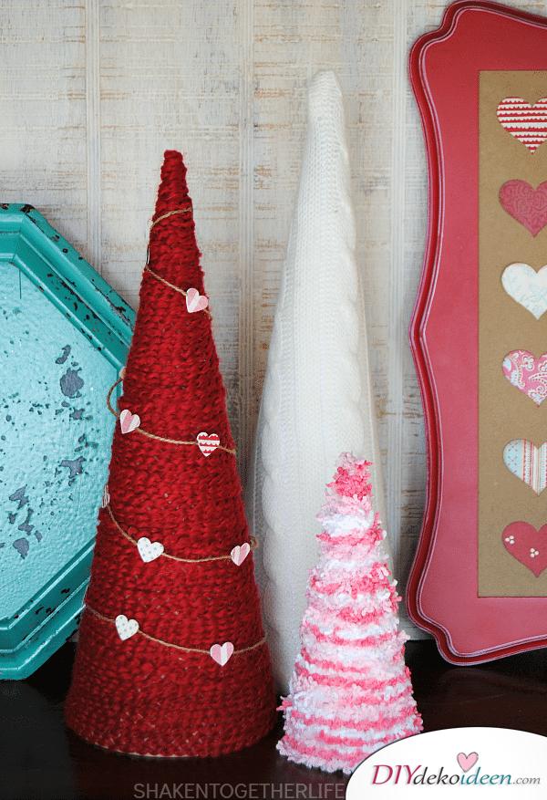 DIY Dekoidee für den Valentinstag - Bäumchen zum Valentinstag -