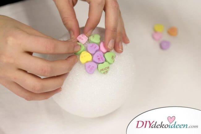 Zuckerherzenbäumchen - DIY Bastelidee für den Valentinstag