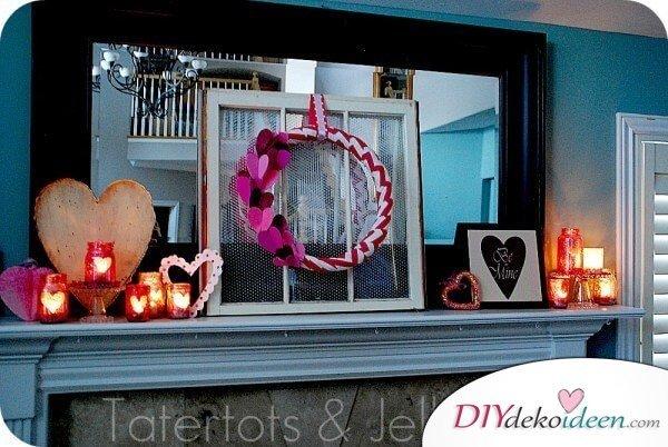 Glitzerndes Kerzenglas - DIY Bastelidee für den Valentinstag