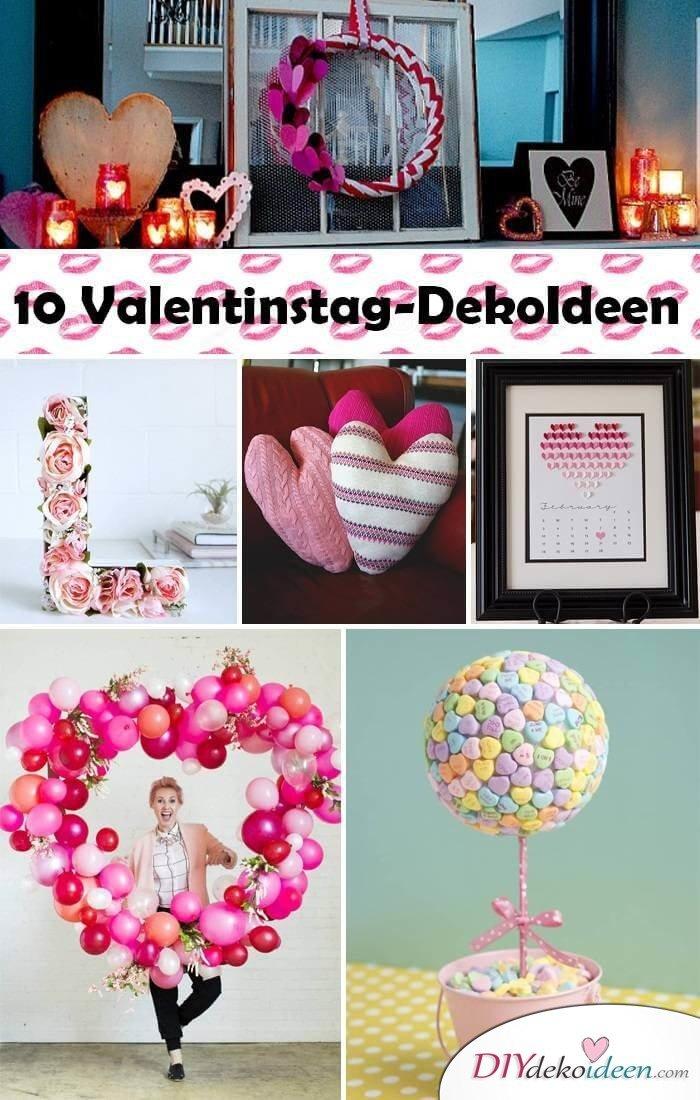 DIY Deko-Bastelideen für den Valentinstag