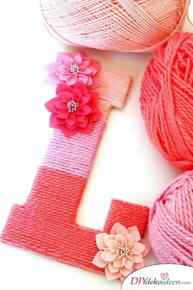 Monogramm im Ombré-Stil - DIY Idee zum Valentinstag