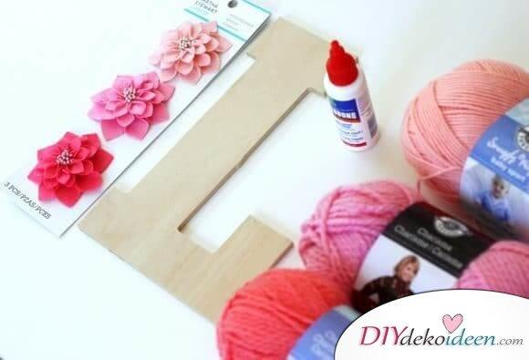DIY Idee zum Valentinstag - Monogramm im Ombré-Stil