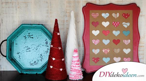 Bäumchen zum Valentinstag - DIY Dekoidee für den Valentinstag