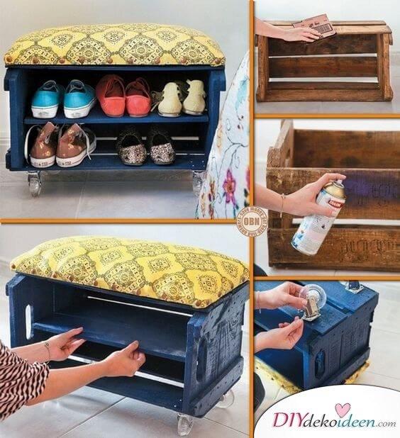 DIY Sitzbank und Schuhschrank zum Selbermachen