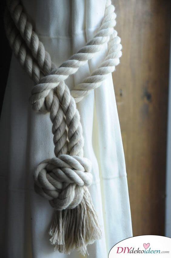 Gardinenband selber machen - Knotentechnik - Wohnideen
