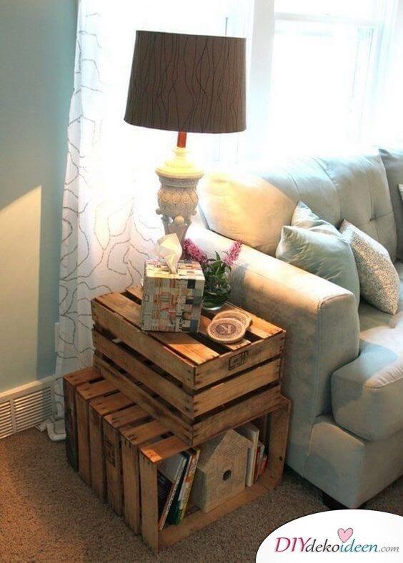 DIY Wohnzimmer Deko Ideen - Beistelltisch basteln