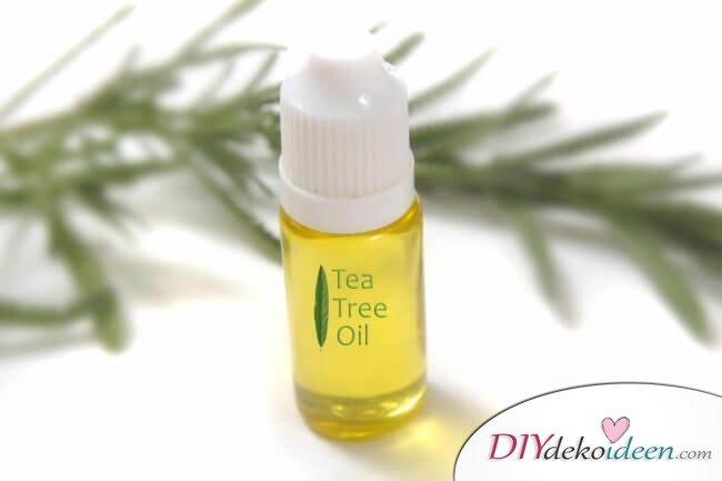 Teebaumöl gegen fettige und schuppige Haare - DIY Haarmaske