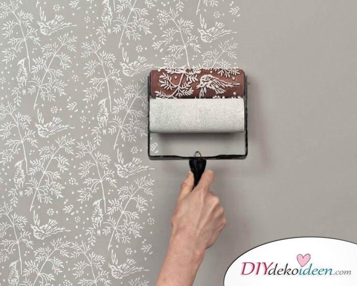 DIY Wanddeko - Blumenmuster selber machen