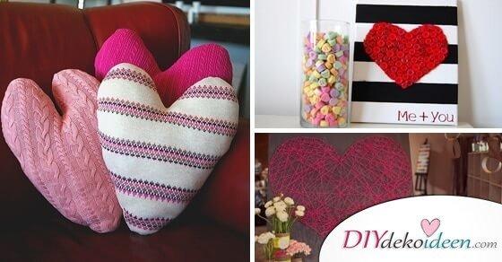 10 tolle DIY Deko Ideen für den Valentinstag
