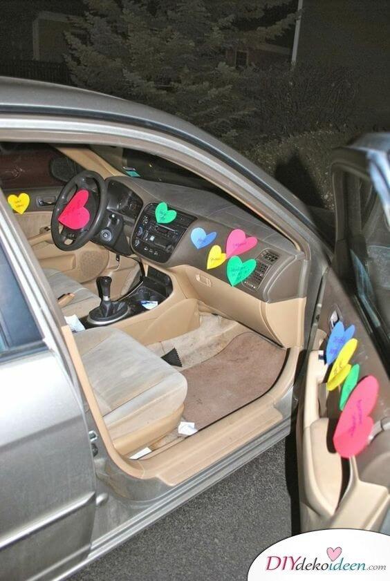 Liebesbotschaft auf Post-It - kreative Ideen zum Selbermachen - Valentinstag