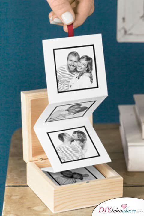 Aufklappbares Fotoalbum - DIY Valentinstagsgeschenk